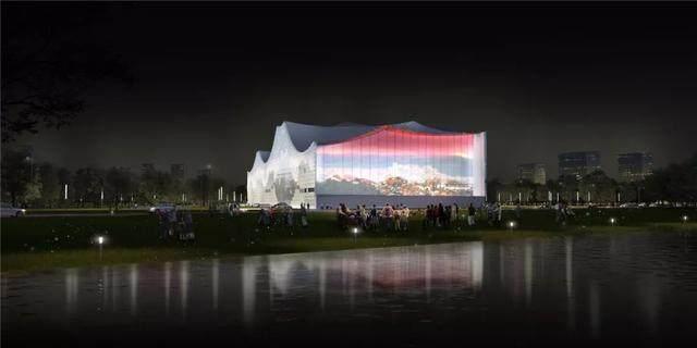 """福建美术馆概念性方案設計,建築呈现""""海浪""""形态-10.jpg"""