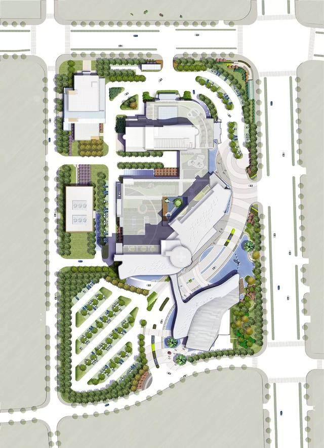 """苏州高新区人民医院二期設計解析,建築取意""""水与鲤鱼""""-3.jpg"""