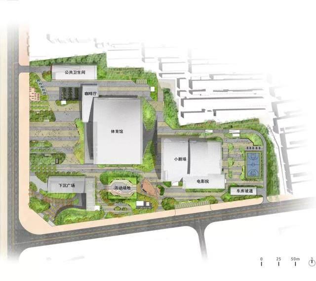 榆林市文化新地标——榆林东沙文体馆設計解析-3.jpg