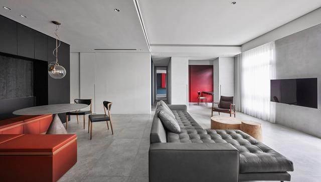 几何原色住宅空间场景空间,台湾 / 水相設計