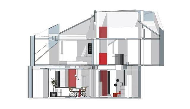 135m² 怪异阁楼,创意爆改为画廊式的舒适三层!金选民工作室