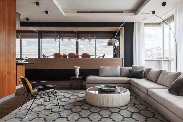 带露台的顶层公寓,这样設計才够時尚 | Timur Sharipov-3.jpg