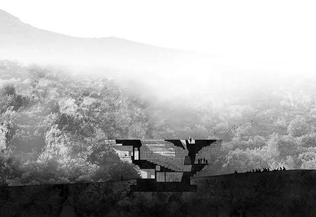 """""""山谷音乐厅""""封顶,建築犹如一块巨石-16.jpg"""