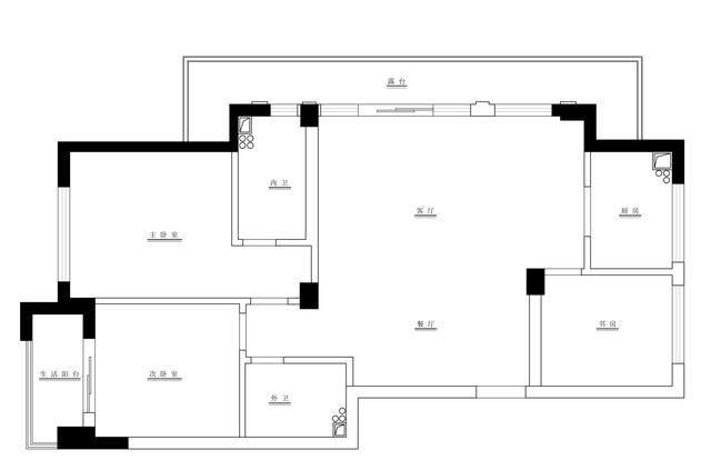 123m2现代简约风住宅空间 | 极右設計-1.jpg