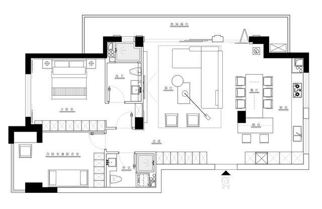 123m2现代简约风住宅空间 | 极右設計-2.jpg