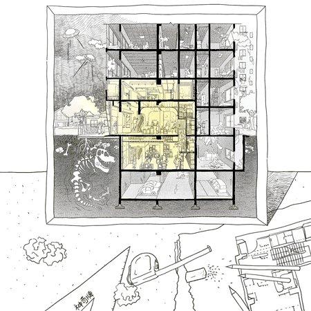 """""""宇宙中心""""的非典型零售空间-4.jpg"""