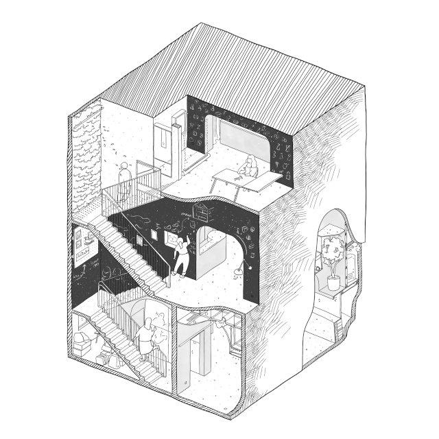 """""""宇宙中心""""的非典型零售空间-6.jpg"""