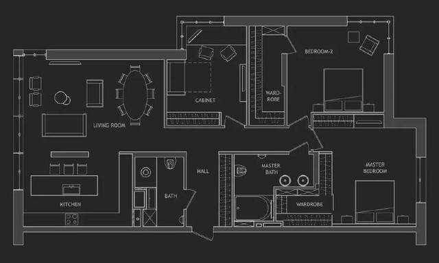 144㎡暗色调轻奢時尚私人住宅空间,品味细腻!  Arch Ants Studio-2.jpg