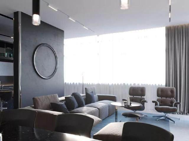 144㎡暗色调轻奢時尚私人住宅空间,品味细腻!  Arch Ants Studio-4.jpg