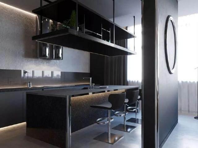 144㎡暗色调轻奢時尚私人住宅空间,品味细腻!  Arch Ants Studio-5.jpg