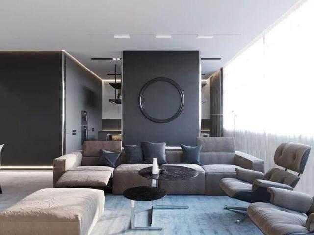 144㎡暗色调轻奢時尚私人住宅空间,品味细腻!  Arch Ants Studio-7.jpg