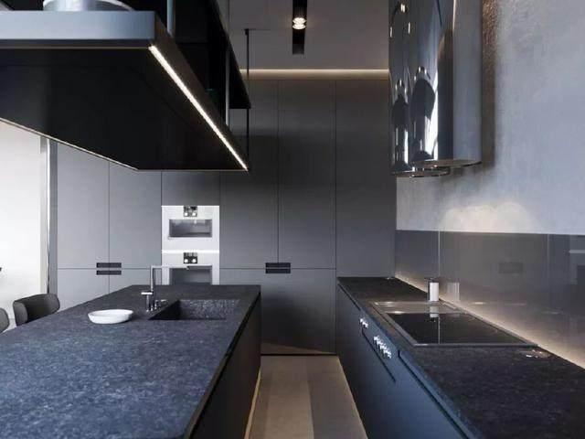 144㎡暗色调轻奢時尚私人住宅空间,品味细腻!  Arch Ants Studio-9.jpg