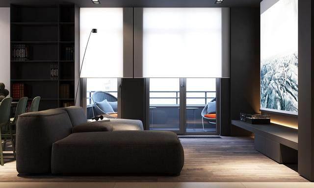 大气奢华的住宅空间設計,以深灰色的现代软装设计为基础-4.jpg