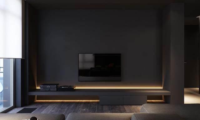 大气奢华的住宅空间設計,以深灰色的现代软装设计为基础-5.jpg