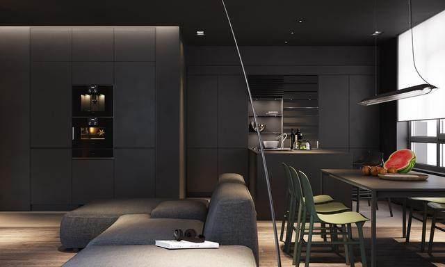 大气奢华的住宅空间設計,以深灰色的现代软装设计为基础-6.jpg