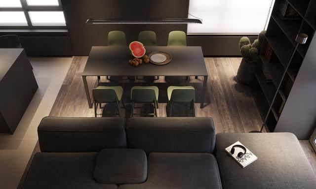 大气奢华的住宅空间設計,以深灰色的现代软装设计为基础-7.jpg