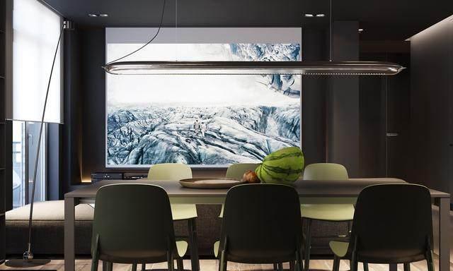 大气奢华的住宅空间設計,以深灰色的现代软装设计为基础-8.jpg