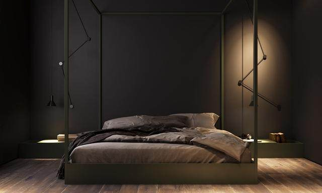 大气奢华的住宅空间設計,以深灰色的现代软装设计为基础-11.jpg
