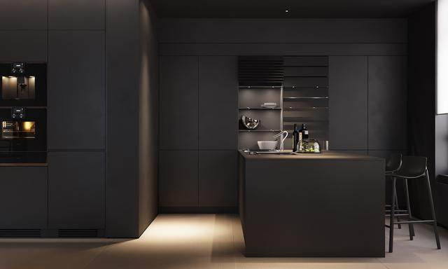 大气奢华的住宅空间設計,以深灰色的现代软装设计为基础-9.jpg