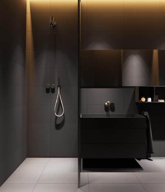 大气奢华的住宅空间設計,以深灰色的现代软装设计为基础-14.jpg