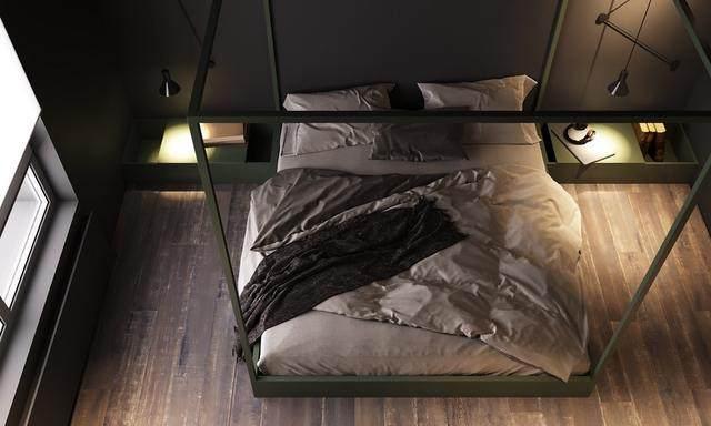 大气奢华的住宅空间設計,以深灰色的现代软装设计为基础-12.jpg