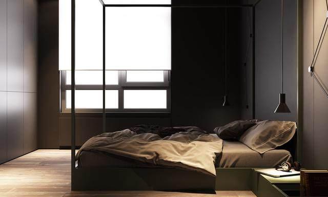 大气奢华的住宅空间設計,以深灰色的现代软装设计为基础-13.jpg