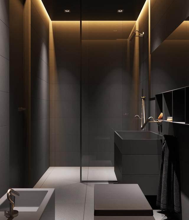 大气奢华的住宅空间設計,以深灰色的现代软装设计为基础-16.jpg