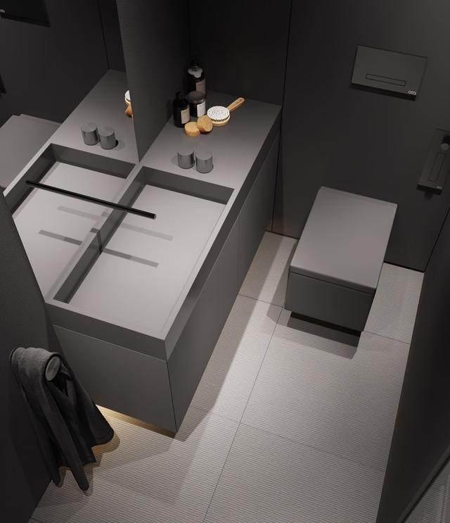 大气奢华的住宅空间設計,以深灰色的现代软装设计为基础-18.jpg