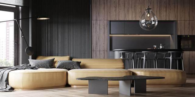 大气奢华的住宅空间設計,以深灰色的现代软装设计为基础-21.jpg
