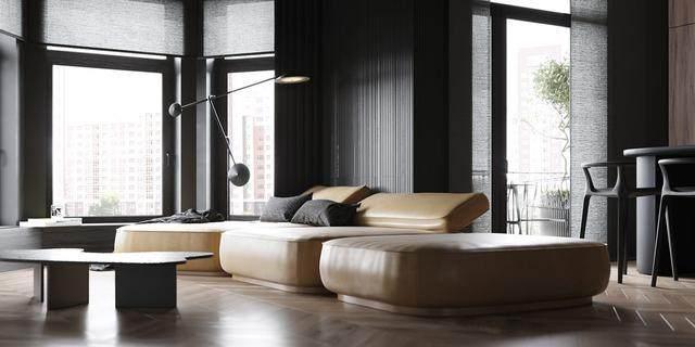 大气奢华的住宅空间設計,以深灰色的现代软装设计为基础-23.jpg