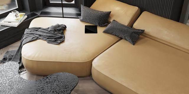 大气奢华的住宅空间設計,以深灰色的现代软装设计为基础-22.jpg