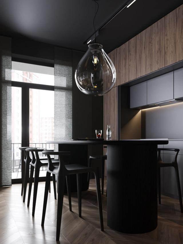 大气奢华的住宅空间設計,以深灰色的现代软装设计为基础-26.jpg