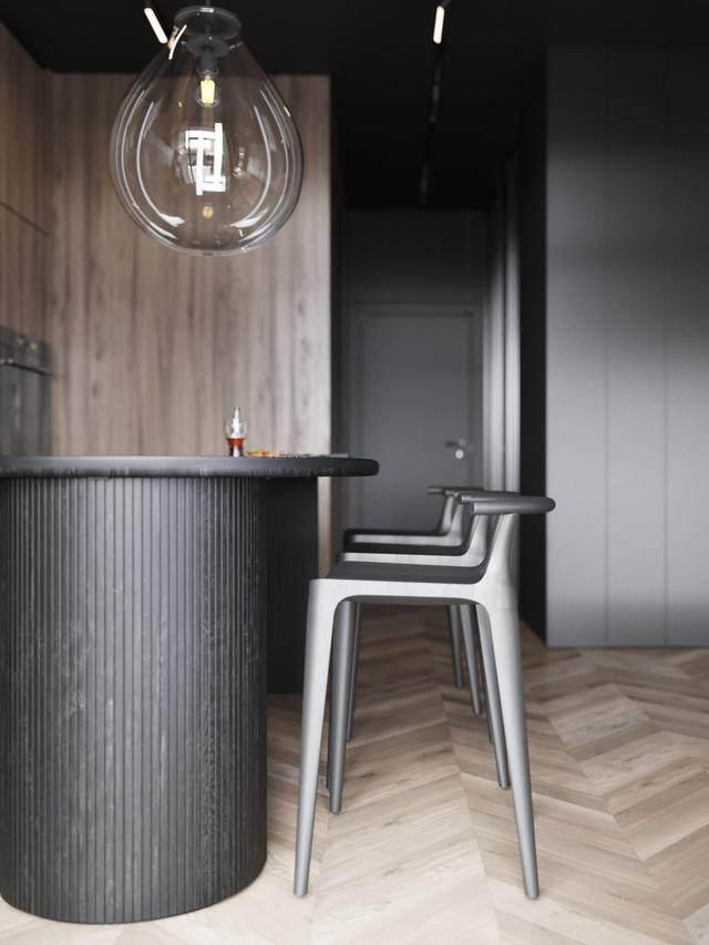 大气奢华的住宅空间設計,以深灰色的现代软装设计为基础-28.jpg