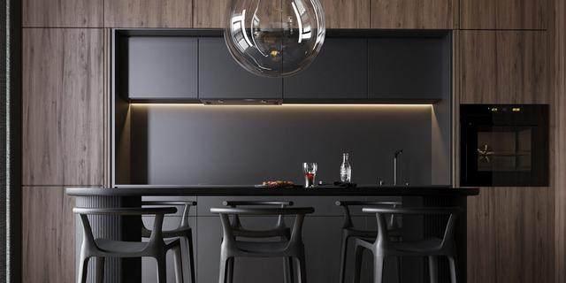 大气奢华的住宅空间設計,以深灰色的现代软装设计为基础-27.jpg