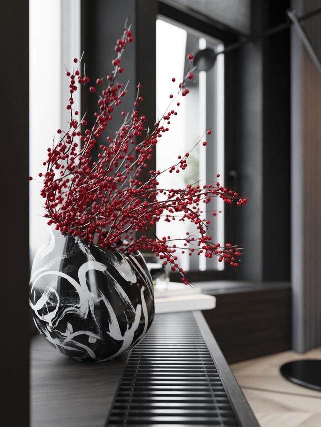 大气奢华的住宅空间設計,以深灰色的现代软装设计为基础-29.jpg