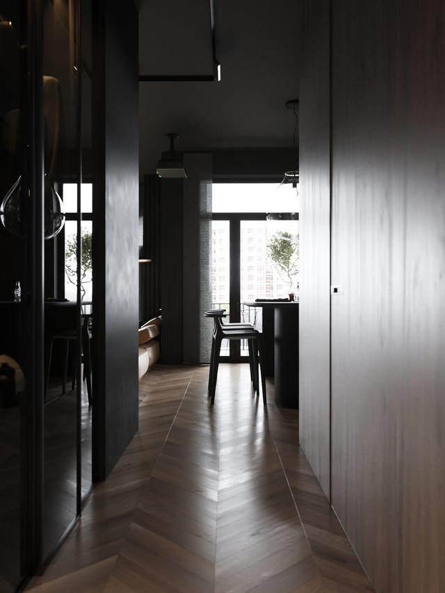 大气奢华的住宅空间設計,以深灰色的现代软装设计为基础-32.jpg