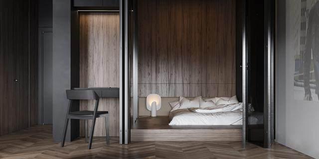 大气奢华的住宅空间設計,以深灰色的现代软装设计为基础-35.jpg