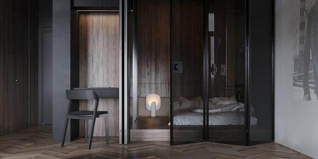 大气奢华的住宅空间設計,以深灰色的现代软装设计为基础-34.jpg