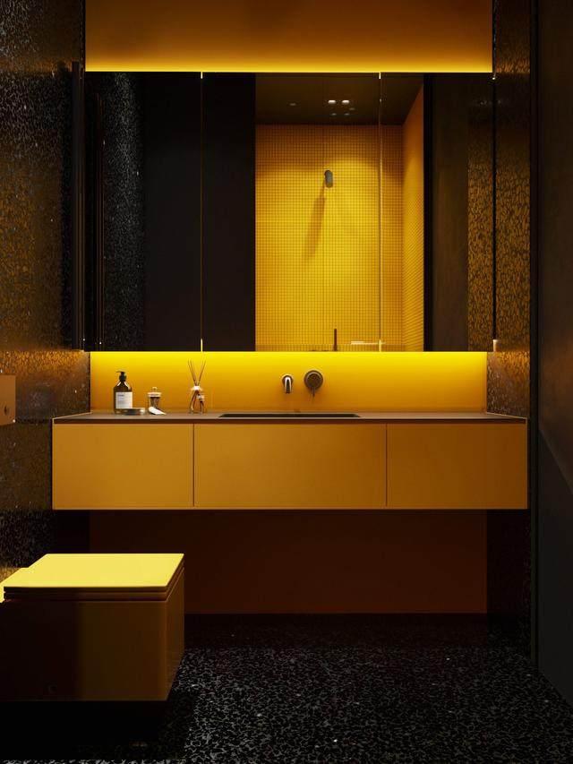 大气奢华的住宅空间設計,以深灰色的现代软装设计为基础-40.jpg