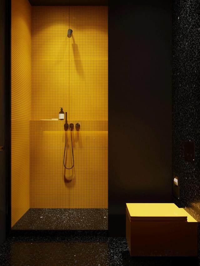 大气奢华的住宅空间設計,以深灰色的现代软装设计为基础-39.jpg