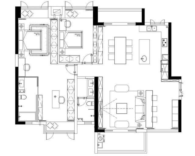 黑色+质朴灰,在住宅空间打造聚会空间   标点設計-1.jpg