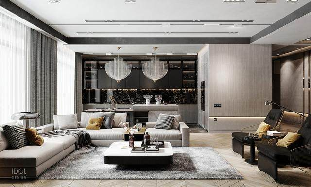 大理石成豪华住宅标配,149平的公寓也能散发奢华与品味-1.jpg
