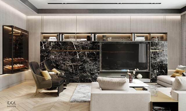 大理石成豪华住宅标配,149平的公寓也能散发奢华与品味-3.jpg