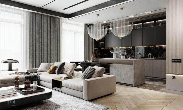 大理石成豪华住宅标配,149平的公寓也能散发奢华与品味-2.jpg