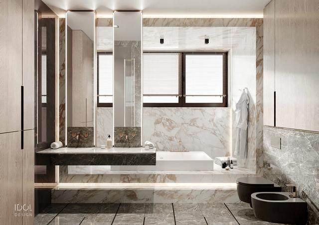 大理石成豪华住宅标配,149平的公寓也能散发奢华与品味-20.jpg