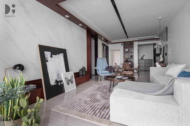 现代简约风住宅空间,涌动的静谧 | 龙徽設計-3.jpg