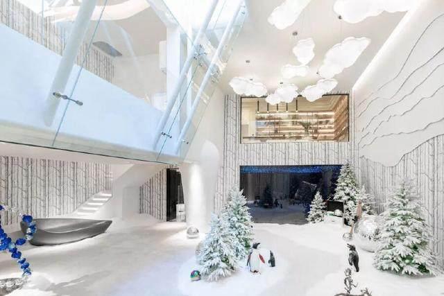北京首创远洋·禧瑞春秋南合院,地下室打造成雪屋的魔法世界-22.jpg