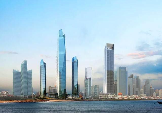 青岛第一高楼——青岛海天中心结构封顶,建築呈现'六边形'設計-1.jpg