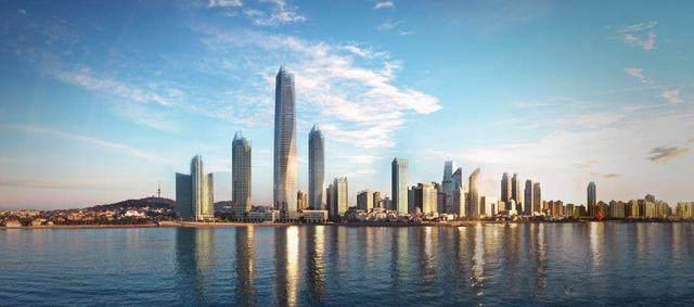 青岛第一高楼——青岛海天中心结构封顶,建築呈现'六边形'設計-4.jpg