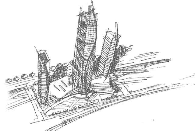 青岛第一高楼——青岛海天中心结构封顶,建築呈现'六边形'設計-7.jpg